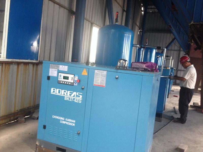 南京某电厂采用开山螺杆式空压机BK37-8